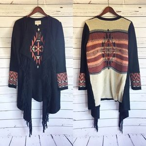 Miss Me NWT cardigan sweater duster fringe small